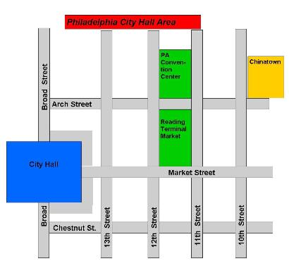 City Hall Area Map