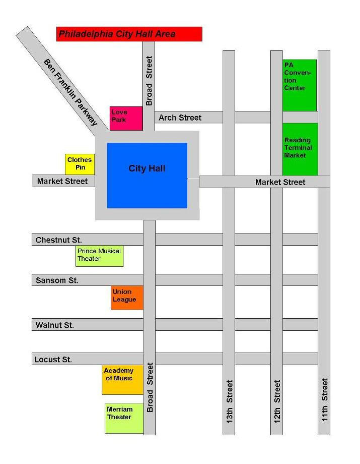 City Hall South Map